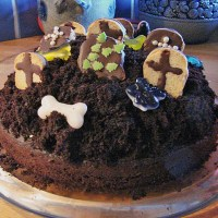 Halloween Food - Grave Yard Cake