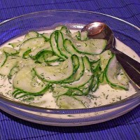 German Cucumber Salad with Dill