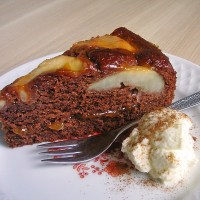 Chocolate Pear Cake - Authentic German Recipe