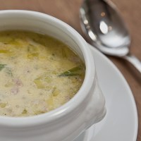 German Leek Soup with Ground Beef