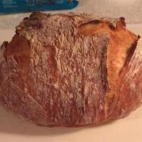 German Style Bread Baked in Cast Iron Form