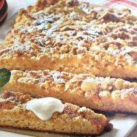 German Almond Streusel Cake