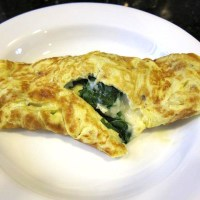 German Spinach Omelette - Perfect for Breakfast