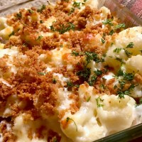 German Cauliflower Potato Casserole or Gratin