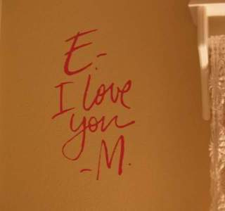 If you're happy and you know it… write it on the wall.