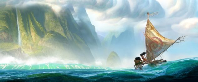 """From Walt Disney Animation Studios comes ?Moana,? a sweeping, CG-animated comedy-adventure about a spirited teenager on an impossible mission to fulfill her ancestors' quest. A born navigator, Moana sets sail from the ancient South Pacific islands of Oceania in search of a fabled island. During her incredible journey, she teams up with her hero, the legendary demi-god Maui, to traverse the open ocean on an action-packed voyage, encountering enormous sea creatures, breathtaking underworlds and ancient folklore. Directed by the renowned filmmaking team of Ron Clements and John Musker (""""The Little Mermaid,"""" """"The Princess and the Frog,"""" """"Aladdin""""), """"Moana"""" arrives in theaters in late 2016. ?2014 Disney. All Rights Reserved."""