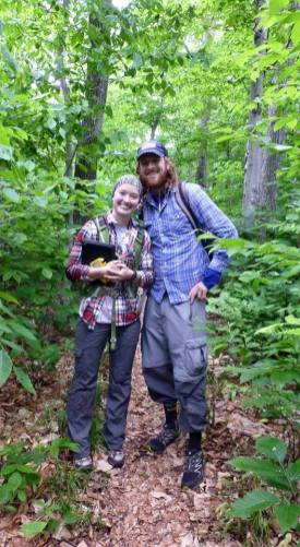 Trail erosion researchers Brian and Mary-Ellen