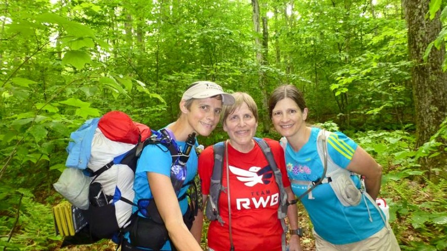 My trail angels... Janette Maas and Laura Pound.