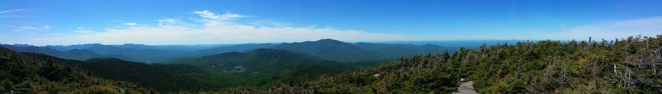 View from south peak of Mt. Kinsman
