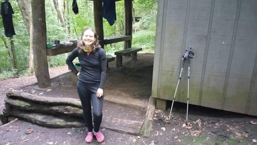 Dropknife....fellow female flip flop thru hiker and PhD chemist from Munich, Germany.