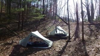 Tarptent City near Plum Orchard Shelter