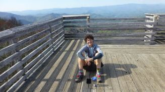Hanging at Wesser Bald - Awesome views — with Martha Johnson