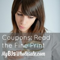Coupons: Read the Fine Print