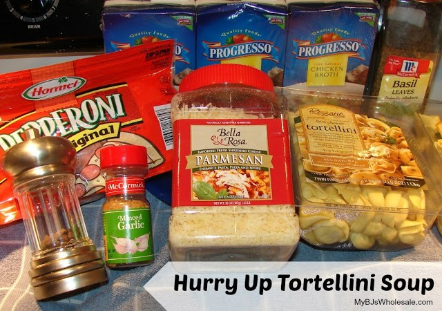 tortellini soup recipe with ingredients from bjs