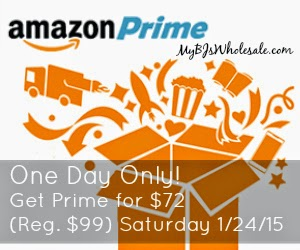 One Day Only - Amazon Prime for $72
