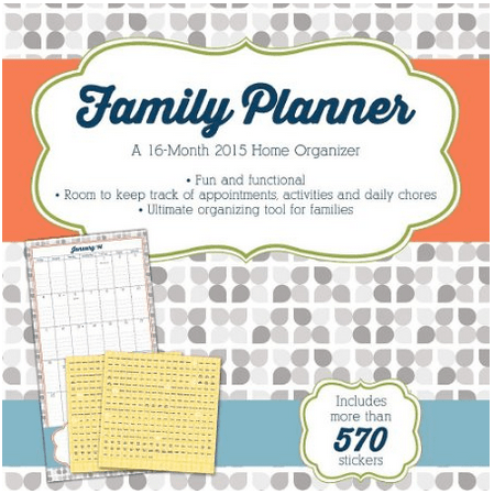 Organize Your Life: 2015 Family Planner Wall Calendar