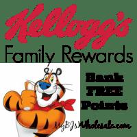 Kellogg's Family Rewards: Bank 25 Points