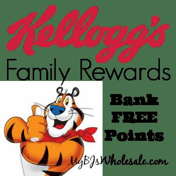 Kellogg's Family Rewards: Bank 100 Points