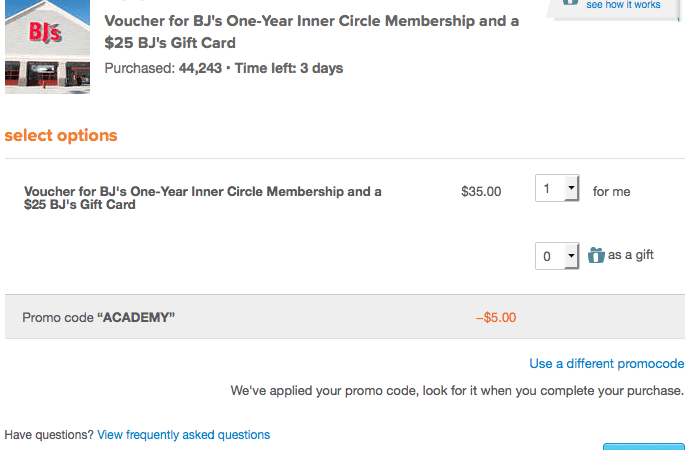 BJs Membership Discount - Only $30 (TODAY ONLY)