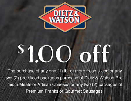 Save $1 on Dietz & Watson Deli Meat or Cheese