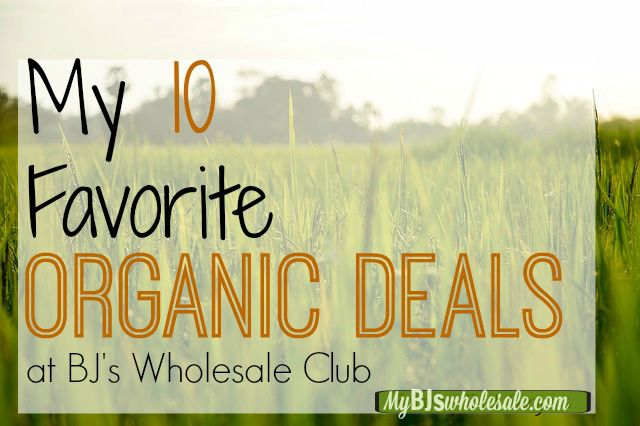 Organic Deals for January at BJs
