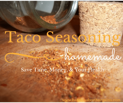 make your own organic taco seasoning