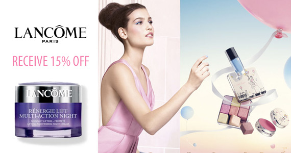 Receive 15% OFF lancome and free shipping