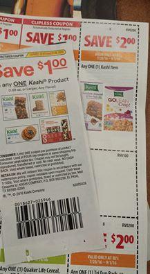 kashi cereal and granola bar deal