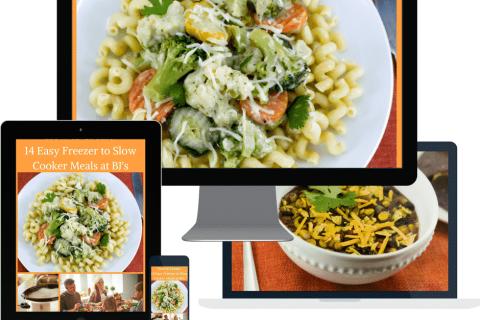BJ's Freezer to Slow Cooker Meal Plan