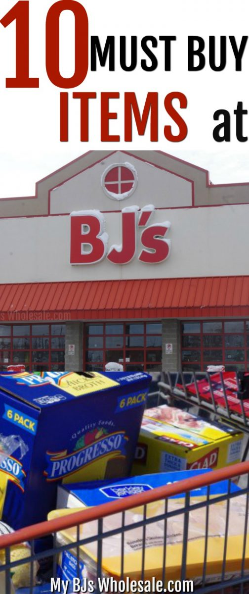 Wondering what the best items to buy at BJ's Wholesale club are? Here is a list of the 10 Must buy items at BJ's Wholesale Club. #BJsWholesale #warehouseclubs #savemoney