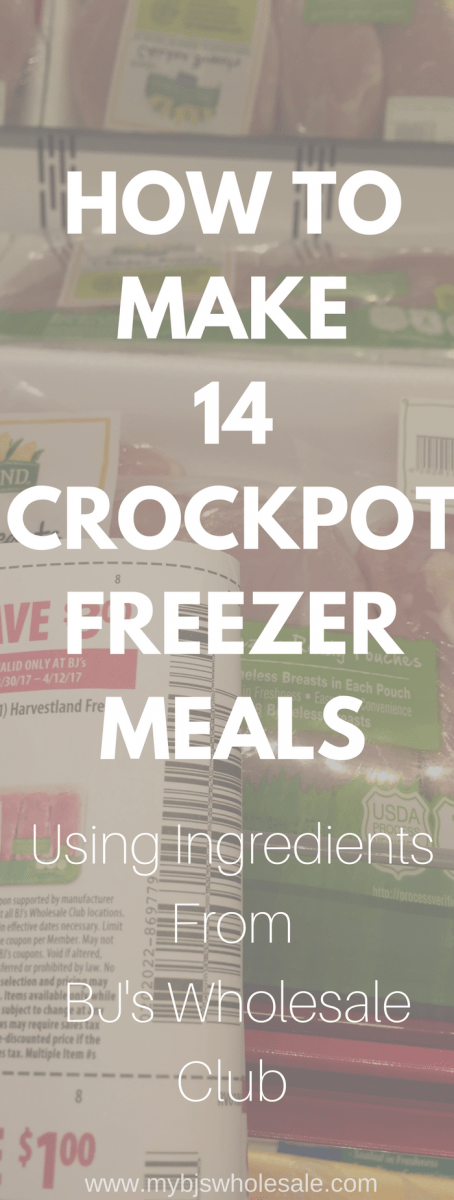 crockpot freezer meals using ingredients from BJs   crockpot   for new moms  make ahead   beef   healthy   with shopping list   cheap   easy   On a budget