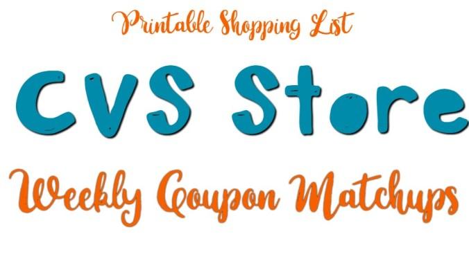 cvs weekly coupon matchups