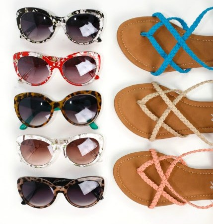sandals and sunglasses on cents of style