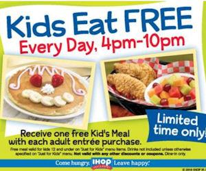 IHOP Kids eat free everday