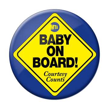 free baby on board button