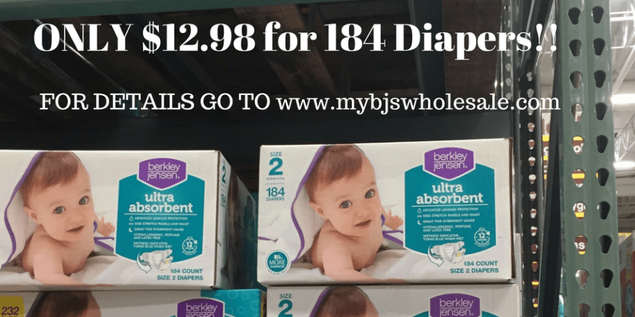 BJs brand diaper deal at Bjs wholesale club