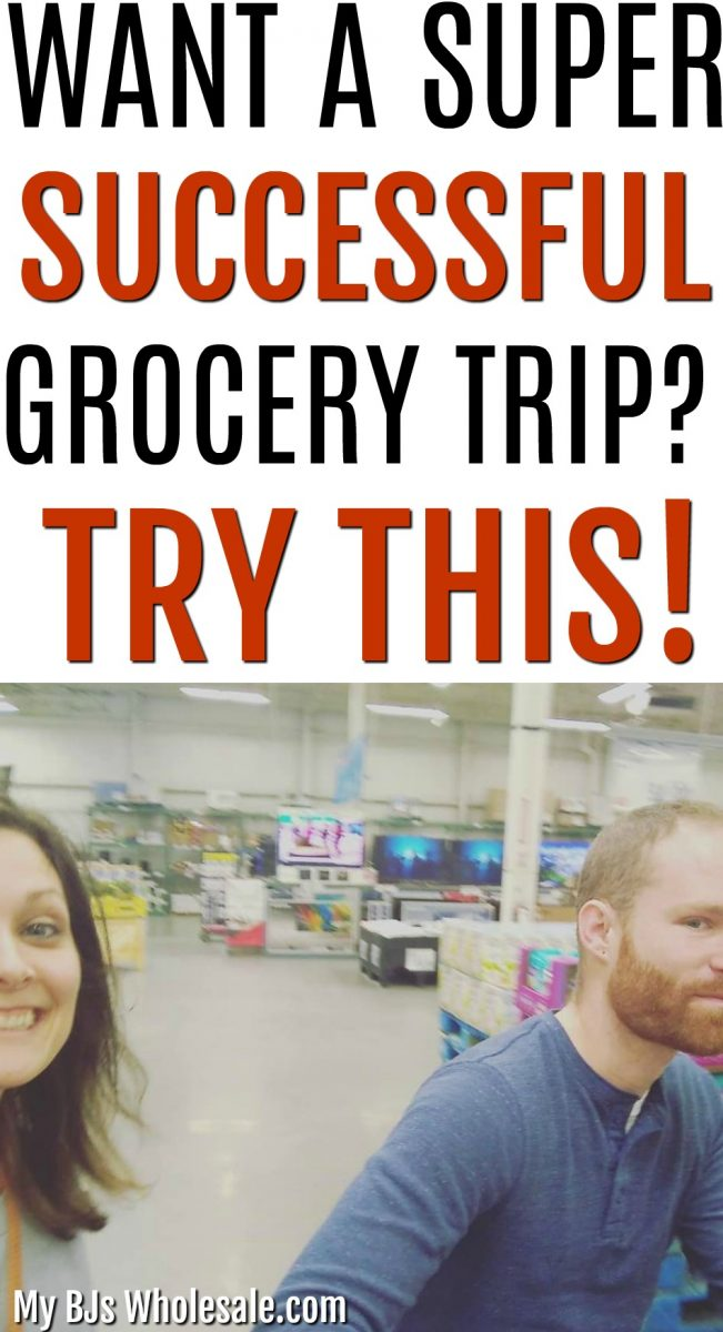 Save time and money when you grocery shop once a month. Four Free Printables give you organization and ways to commit to grocery shopping on a budget.  Convenient for larger families and working moms.   #BJsWholesale #wholesaleclubs #costco #shopping #howto #tips
