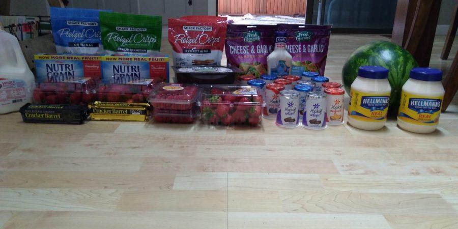 weekly grocery shopping trip savings