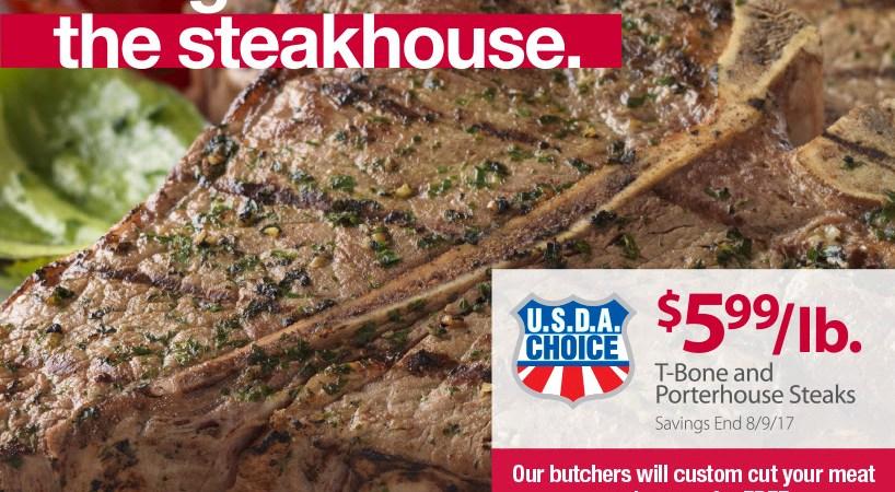 BJs extreme value on t bone steak and porterhouse