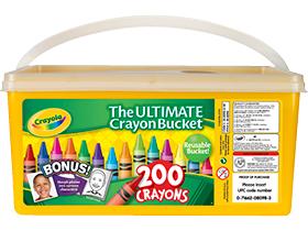 crayola crayon bucket at BJs super deal