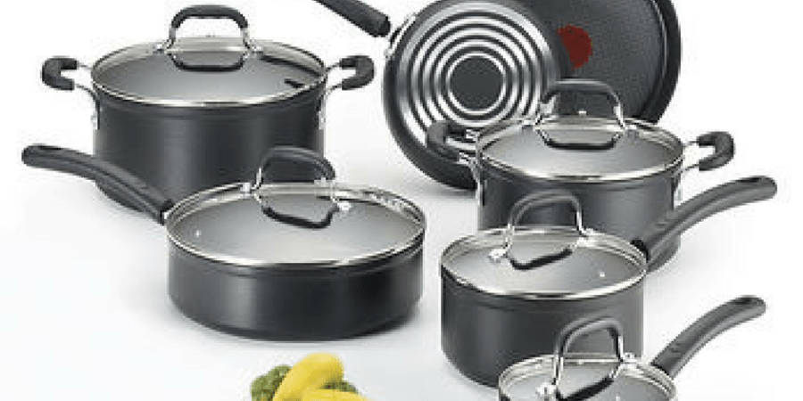 t-fal forgest nonstick cookware set