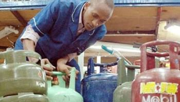 Cooking gas retail shop