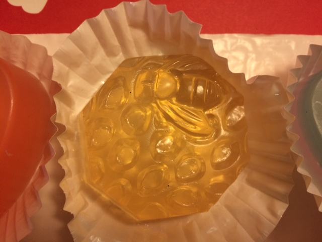 bee soap detail