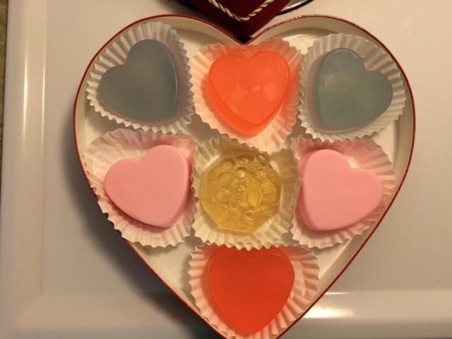 soap in Valentine's box