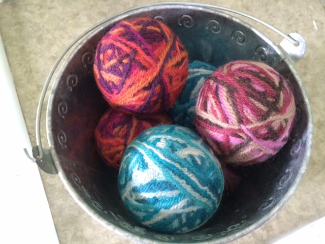 Bucket 'o Felted Balls