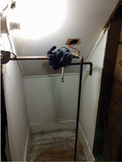 water heater uninstalled