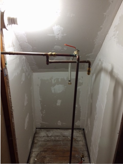closet drywall spackle