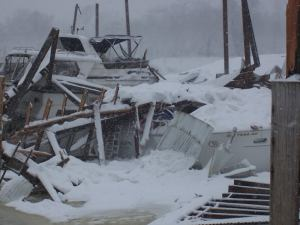 Georgetown marina shed collapse