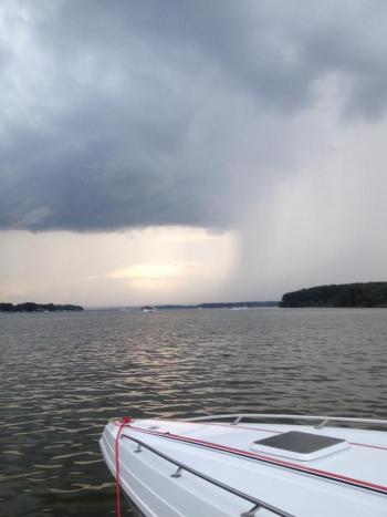 boating bad weather