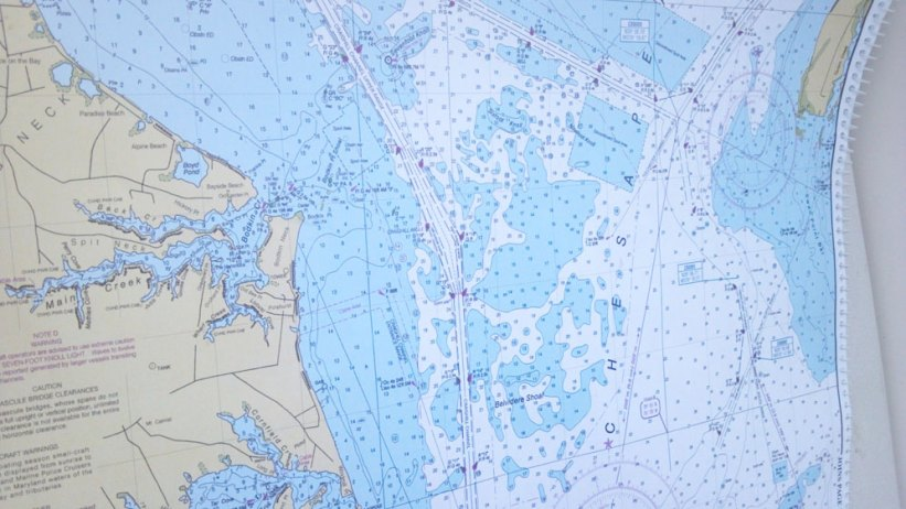 nautical charts sailing trip